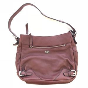 Etienne Aigner maroon leather crossbody handbag